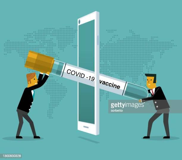 finance injection - mobile phone - viral shedding stock illustrations
