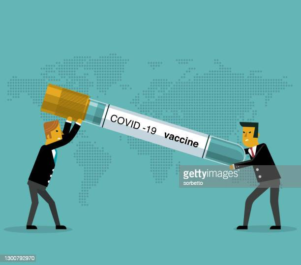 finance injection - two businessman - viral shedding stock illustrations