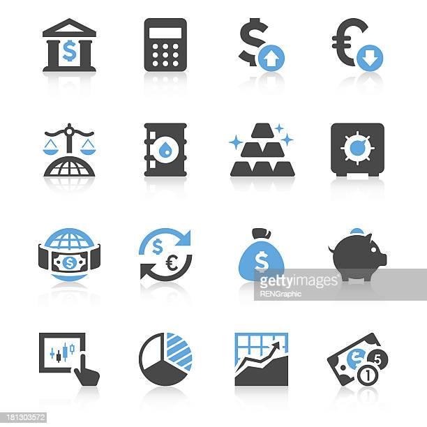財務&投資アイコンセット/簡潔シリーズ