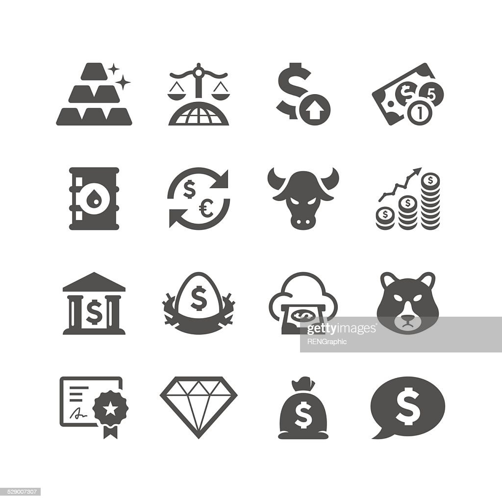 Finance & Investment Icon Set | Unique Series