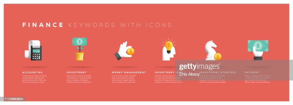Finance Keywords with Icons : stock illustration