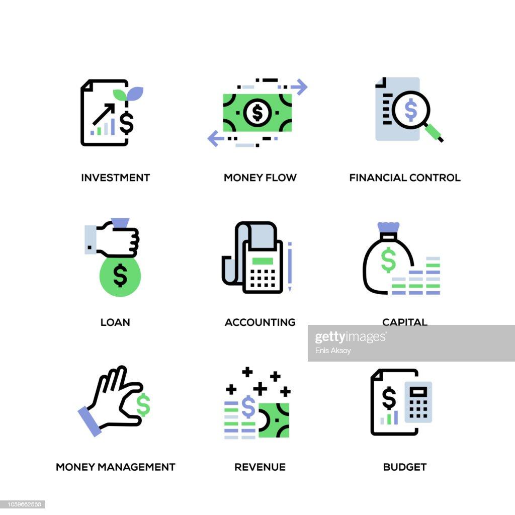 Finance Line Icon Set : stock illustration