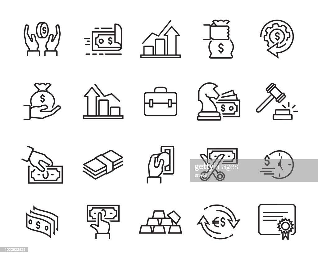 Finance Line Icons Set : stock illustration