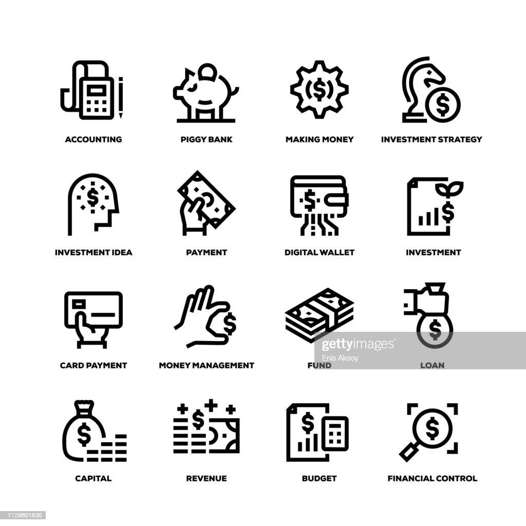 Finance Line Icons : stock illustration