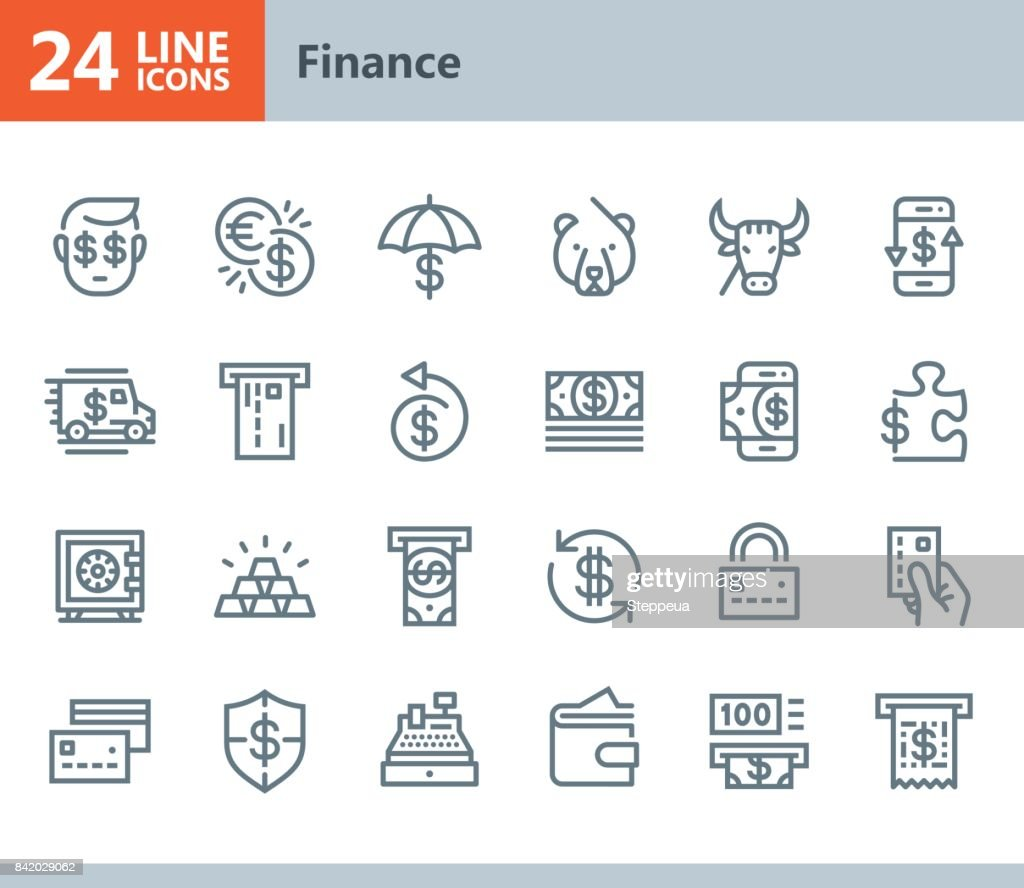 Finance - line vector icons