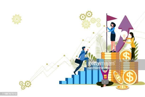 finance management - accountancy stock illustrations