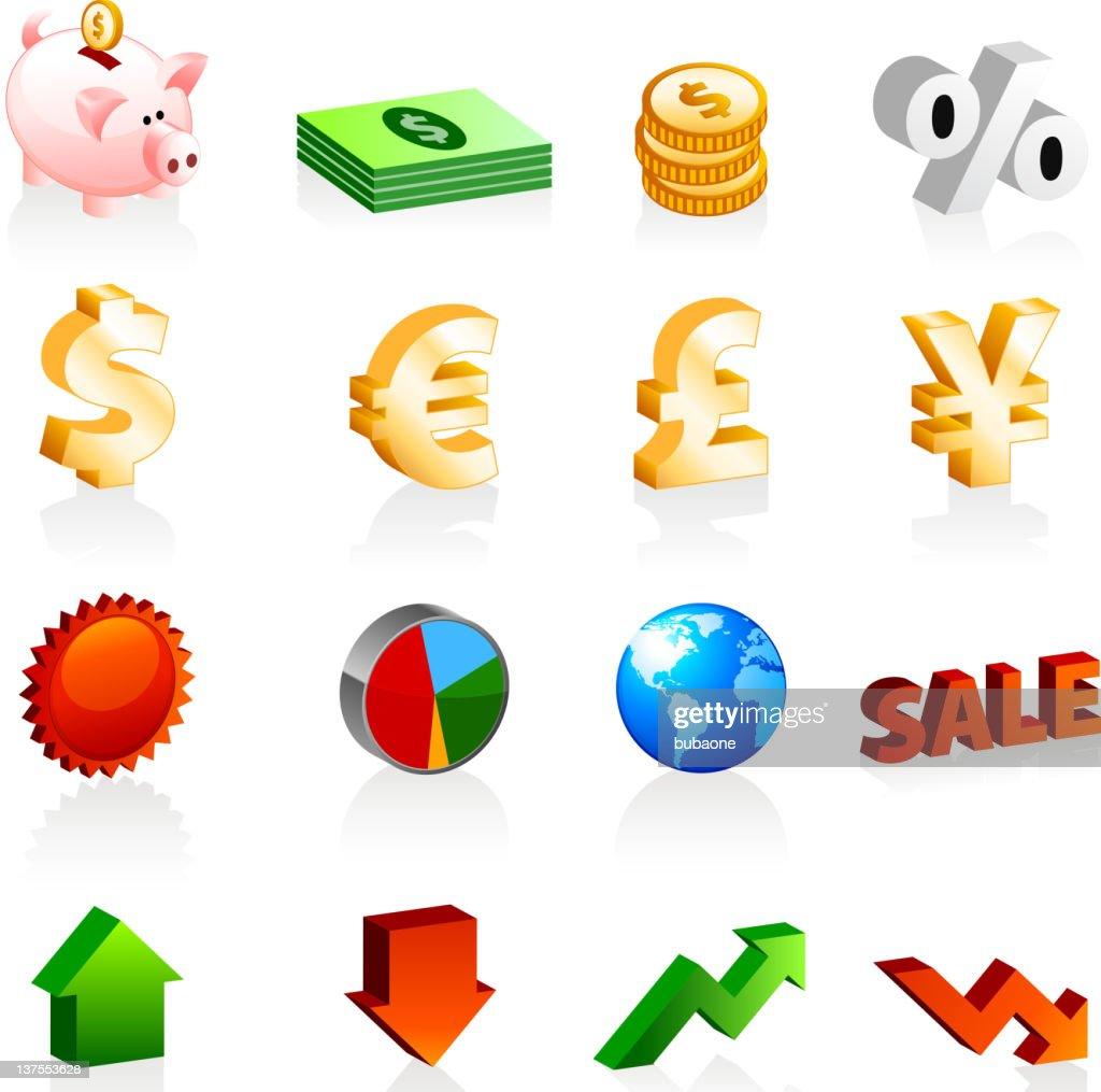 finance money royalty free vector icon set