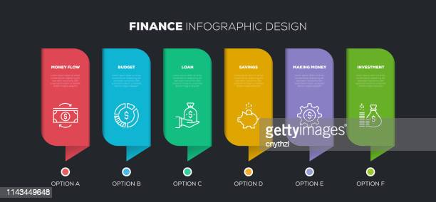 finance related infographic design - column stock illustrations