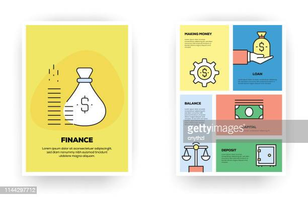 finance related infographic - balance stock illustrations