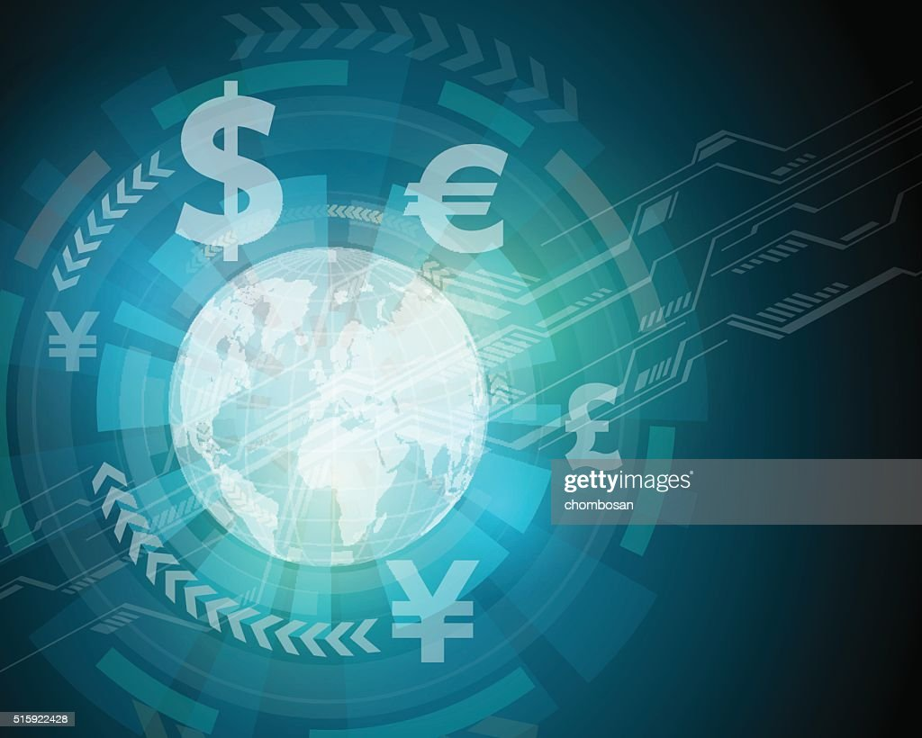 finance technology (fintech) and global trade, abstract image