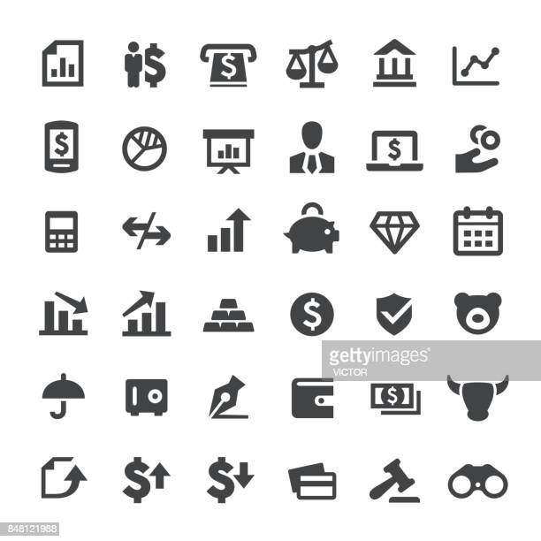 finance vector icons - making money stock illustrations