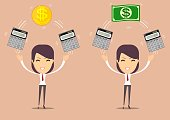 financial advisor - Bookkeeping services and management. Profit, finances concept
