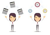 financial advisor - Bookkeeping services and time management. Profit, finances concept