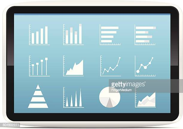 Financial Analysis data on a tablet