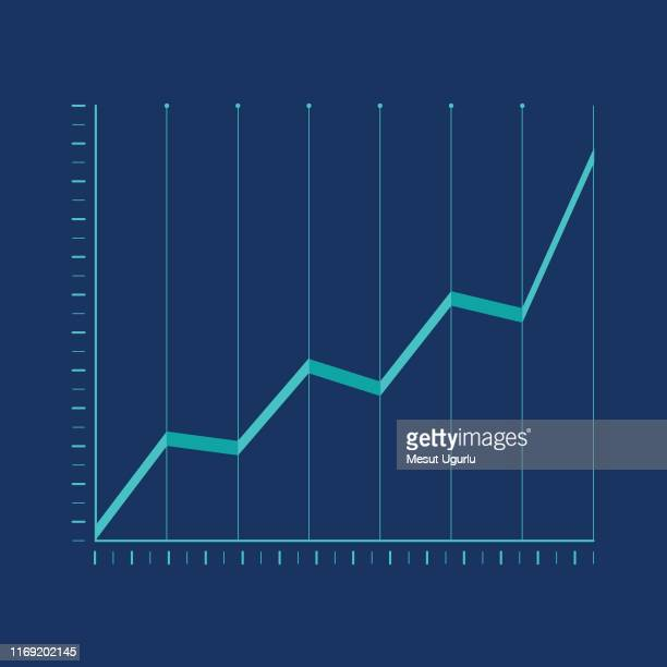 financial analysis icon - line graph stock illustrations