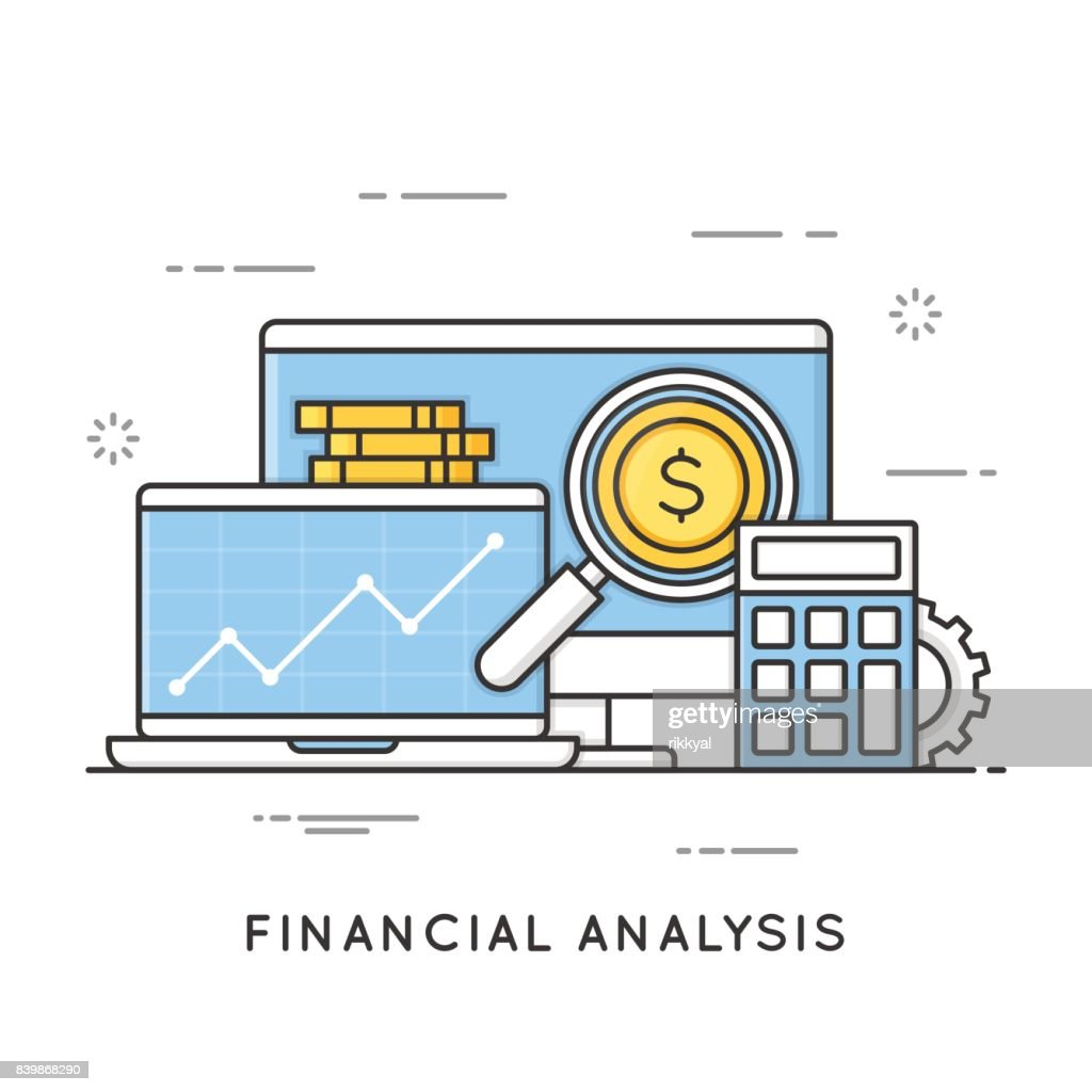 Financial analysis, project management, statistics, business strategy and planning, accounting, market research. Editable stroke.