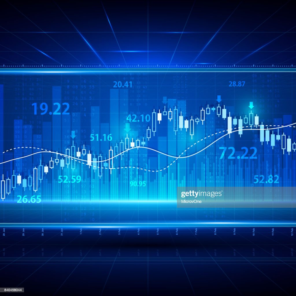 Financial and business abstract background with candle stick graph chart. Stock market investment vector concept