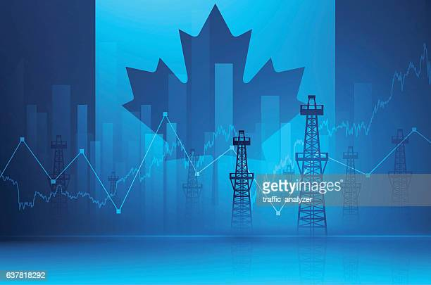 financial background - oil towers - distillation stock illustrations, clip art, cartoons, & icons