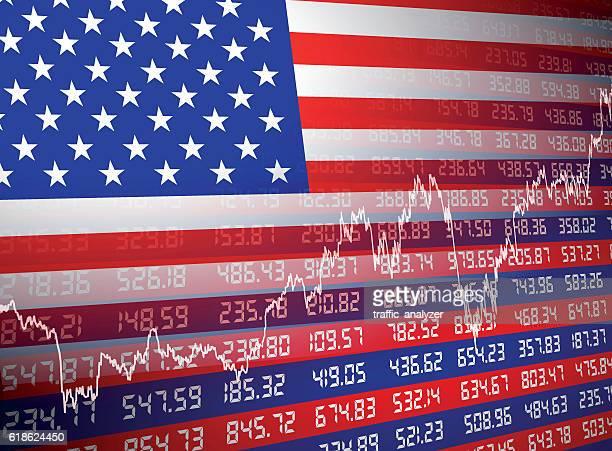 米国の財務背景 - ナスダック点のイラスト素材/クリップアート素材/マンガ素材/アイコン素材