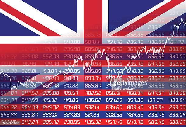illustrations, cliparts, dessins animés et icônes de uk financial background - brexit