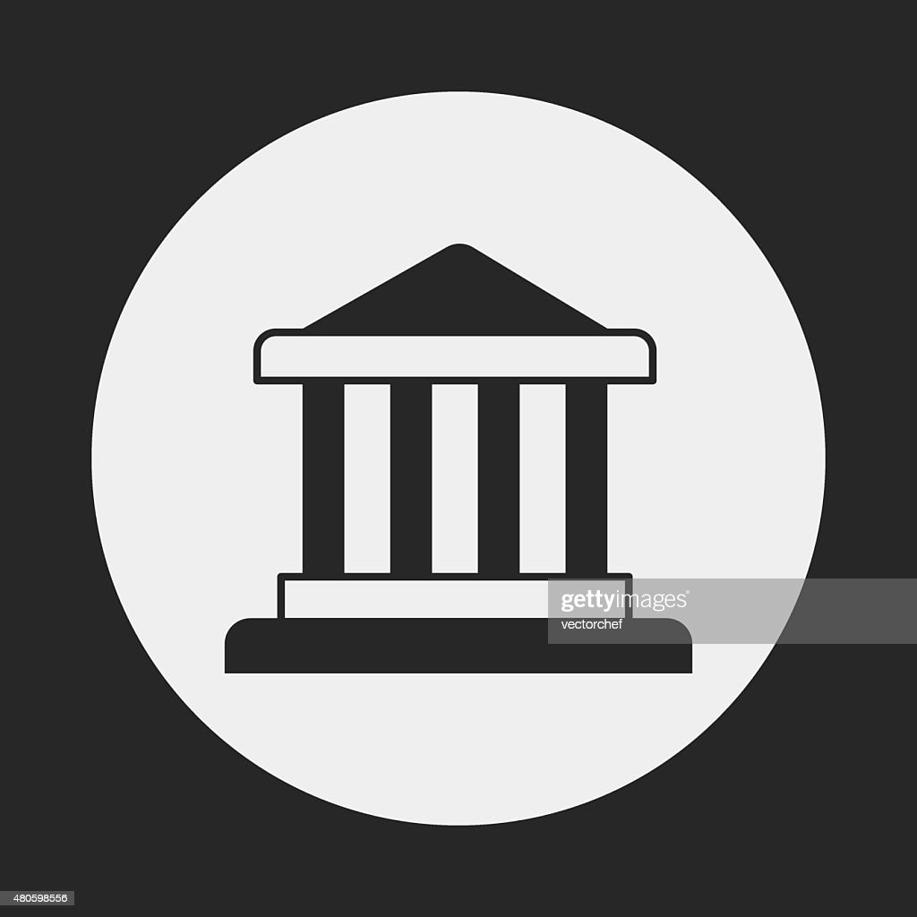 financial bank icon : Vector Art