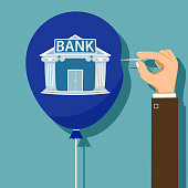 Financial bankruptcy of the bank