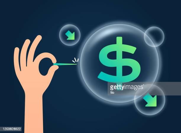 ilustrações, clipart, desenhos animados e ícones de bolha financeira - reforma assunto