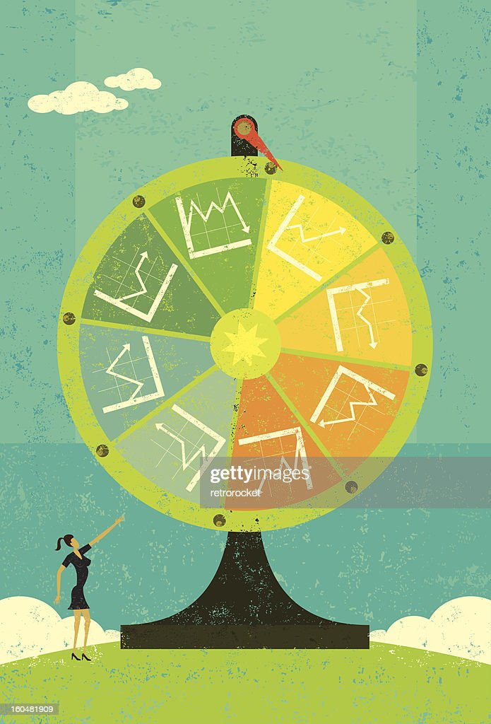 Financial Chart Fortune Wheel : Vector Art