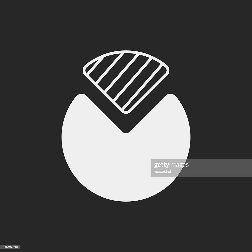 financial chart icon : Vector Art