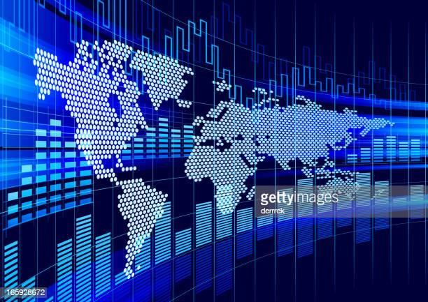 ilustraciones, imágenes clip art, dibujos animados e iconos de stock de charts financieros - las américas