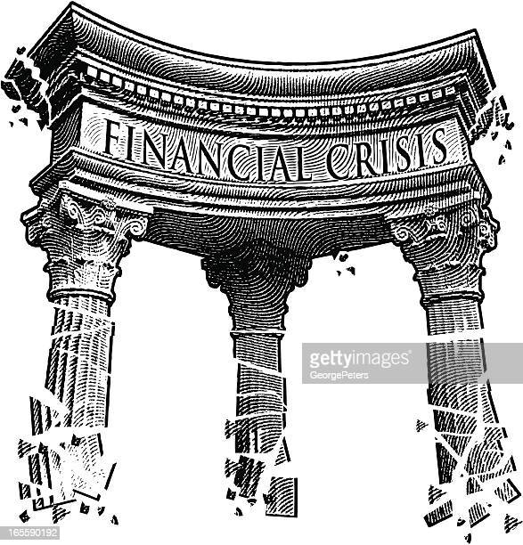 financial crisis - bailout stock illustrations