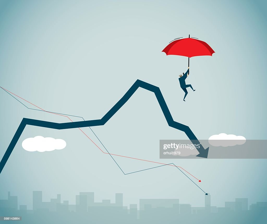 Financial Crisis : stock illustration