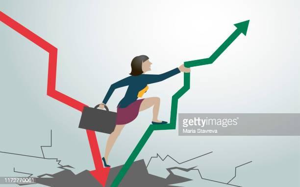 financial crisis vector. - defeat stock illustrations