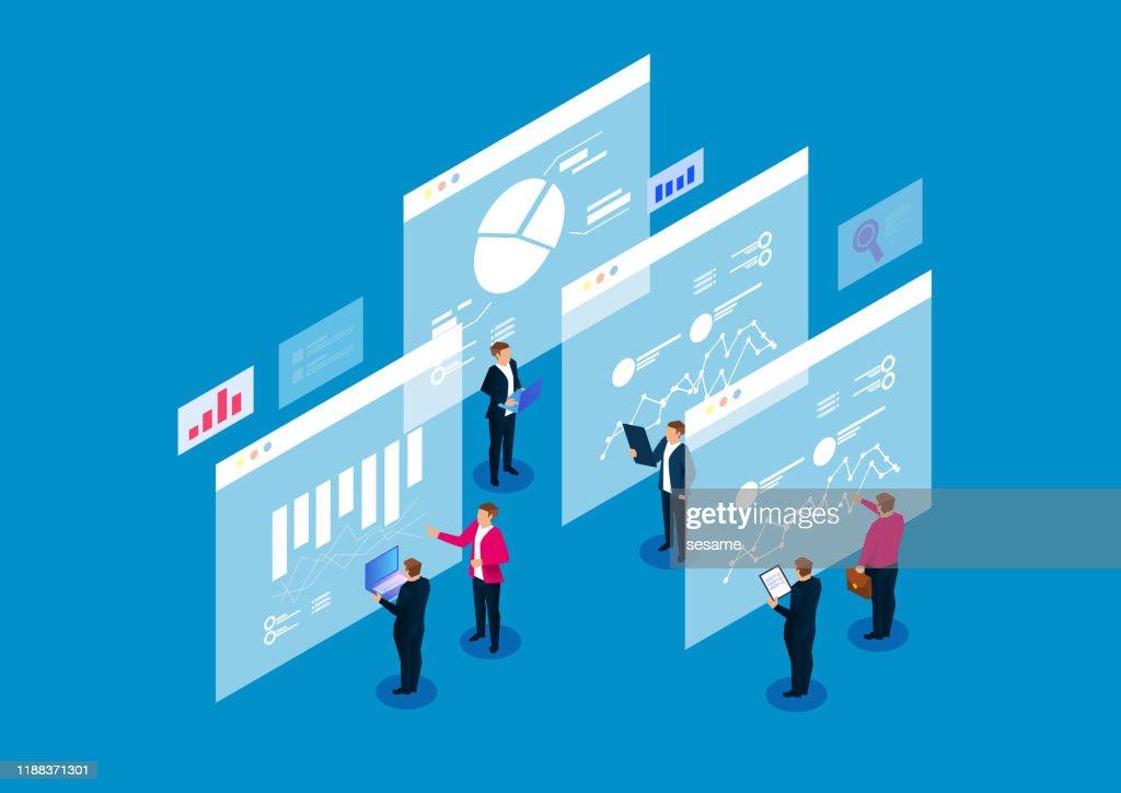 Analyse des données numériques financières et planification stratégique : Illustration