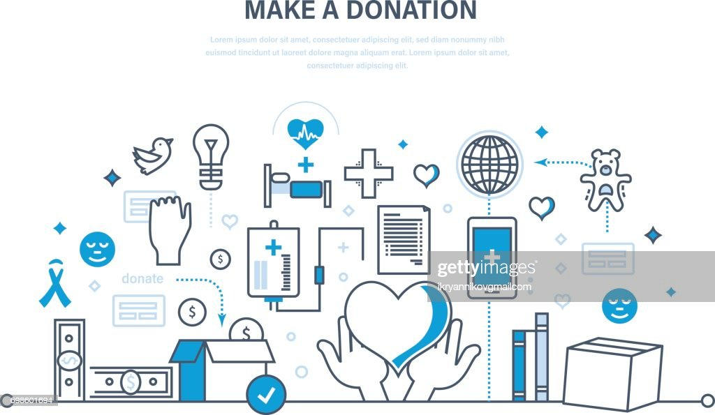 Financial donations, help to health, economic status, contribution to charity