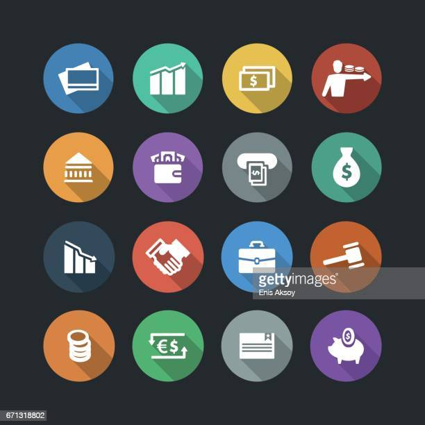 Financial Flat Icons