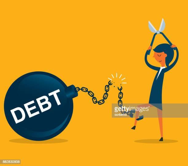 financial freedom - businesswoman - freedom stock illustrations