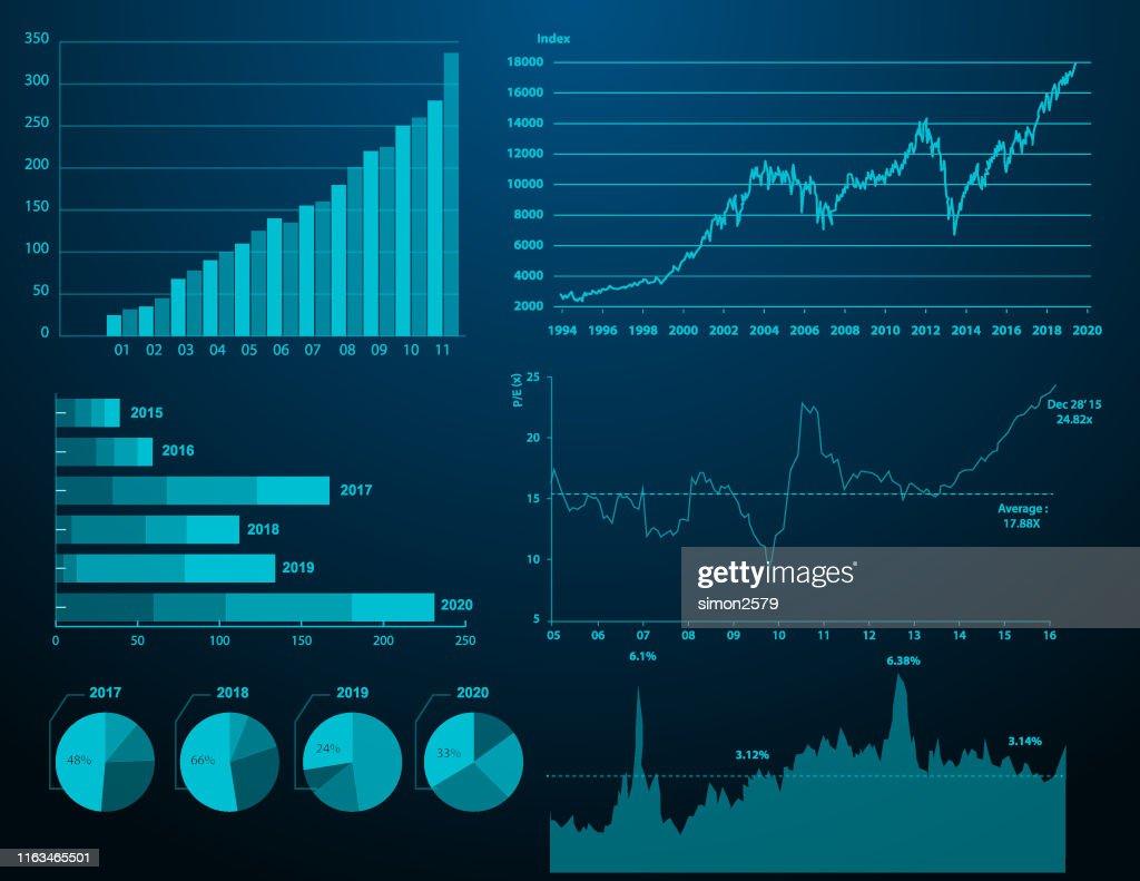 Finanzdiagramm Hintergrund : Stock-Illustration