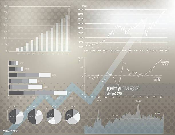 financial graph background - finance and economy stock illustrations, clip art, cartoons, & icons