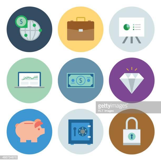 Financial Icons — Circle Series