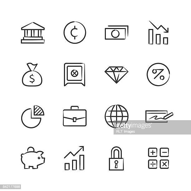 Financial Icons — Sketchy Series