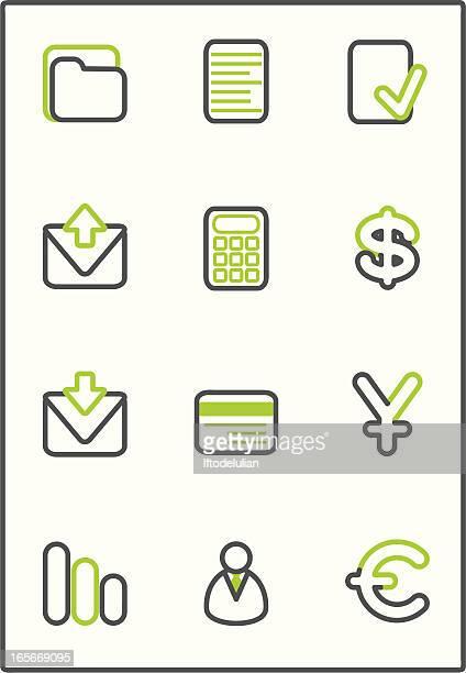 stockillustraties, clipart, cartoons en iconen met financial icons - e mail