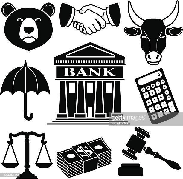 ilustraciones, imágenes clip art, dibujos animados e iconos de stock de iconos de finanzas - parte del cuerpo animal