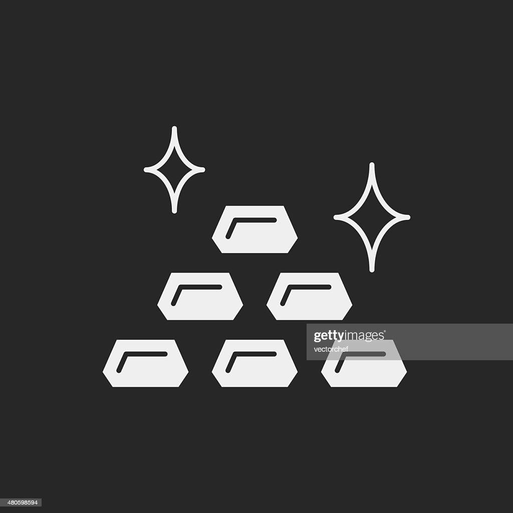 financial money icon : Vector Art