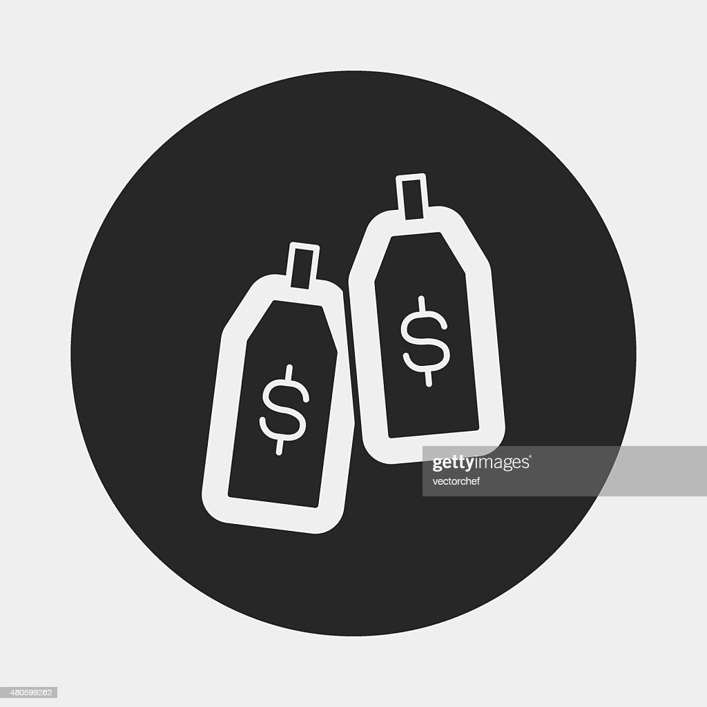 financial money symbol icon : Vector Art