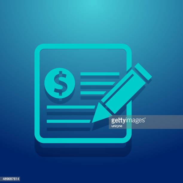 financial notes icon - expense stock illustrations