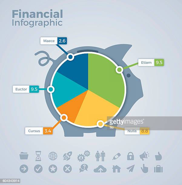 Financial Piggy Bank Infographic