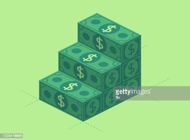富を築くファイナンシャルプランニングマネー階段 - 為替相場点のイラスト素材/クリップアート素材/マンガ素材/アイコン素材