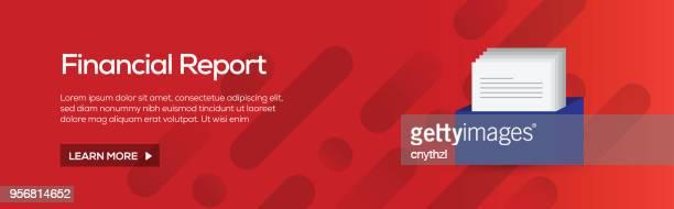 Financial Report Flat Web Banner