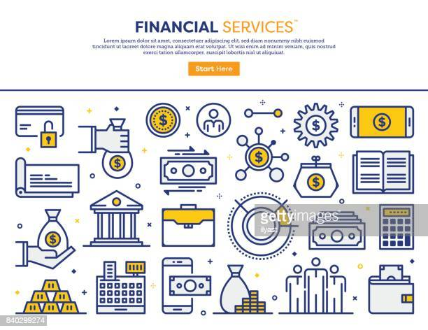 financial services concept - accountancy stock illustrations, clip art, cartoons, & icons